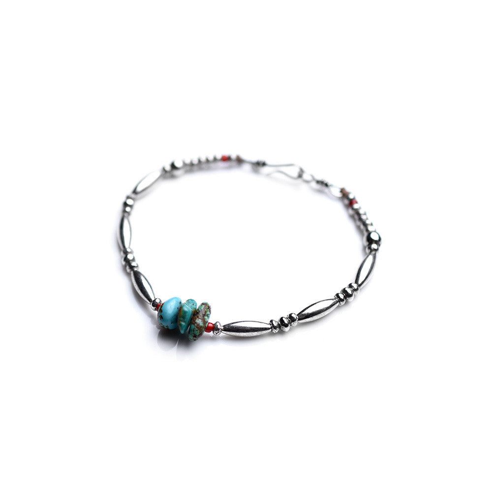 May club -【SunKu】Silver x Turquoise 3Piece Bracelet