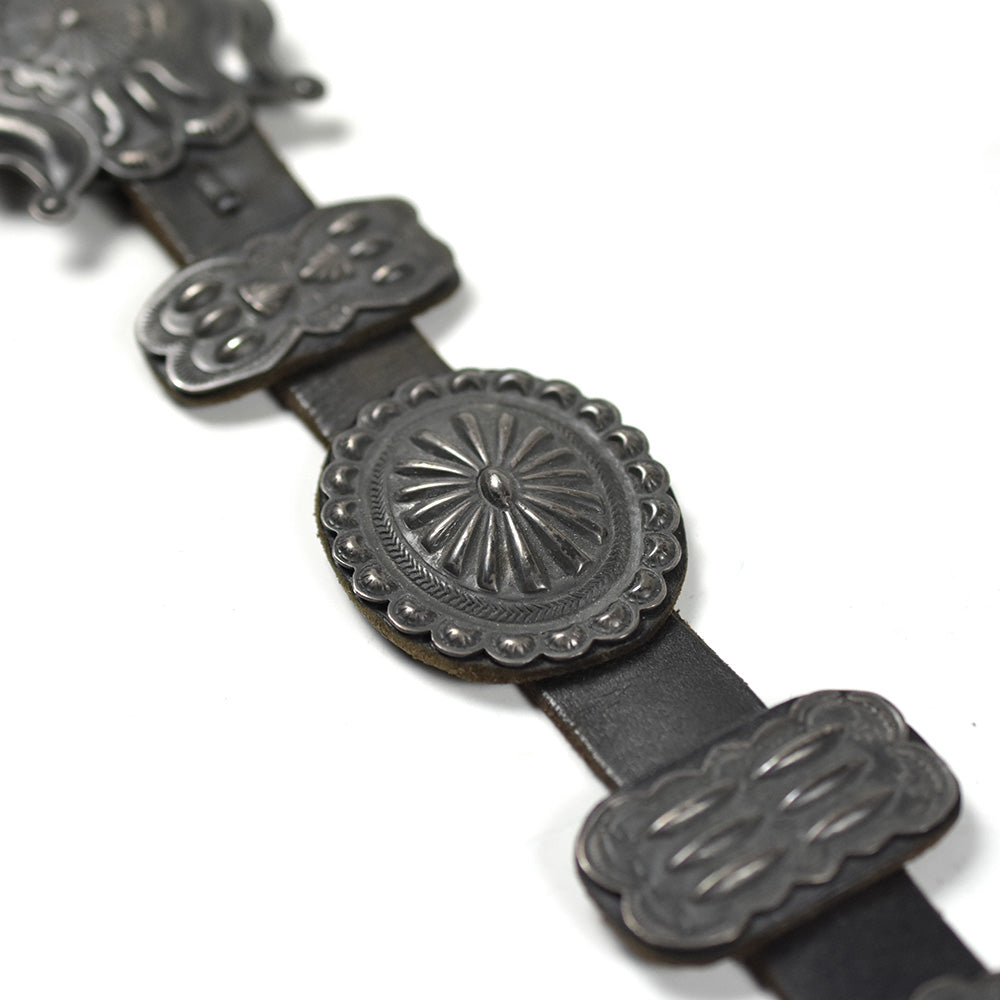 May club -【Vintage】30'S STERLING SILVER NAVAJO CONCHO BELT