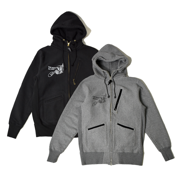 May club -【WESTRIDE】THE MILWAUKEE GHOST HEAVY WEIGHT FULLZIP HOODIE