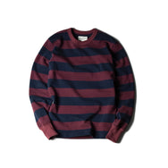 HEAVY BORDER LONG SLEEVES TEE - BGDY/NVY