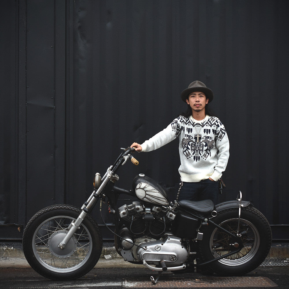 May club -【BAD QUENTIN】TOTEM POLE JACQUARD KNIT