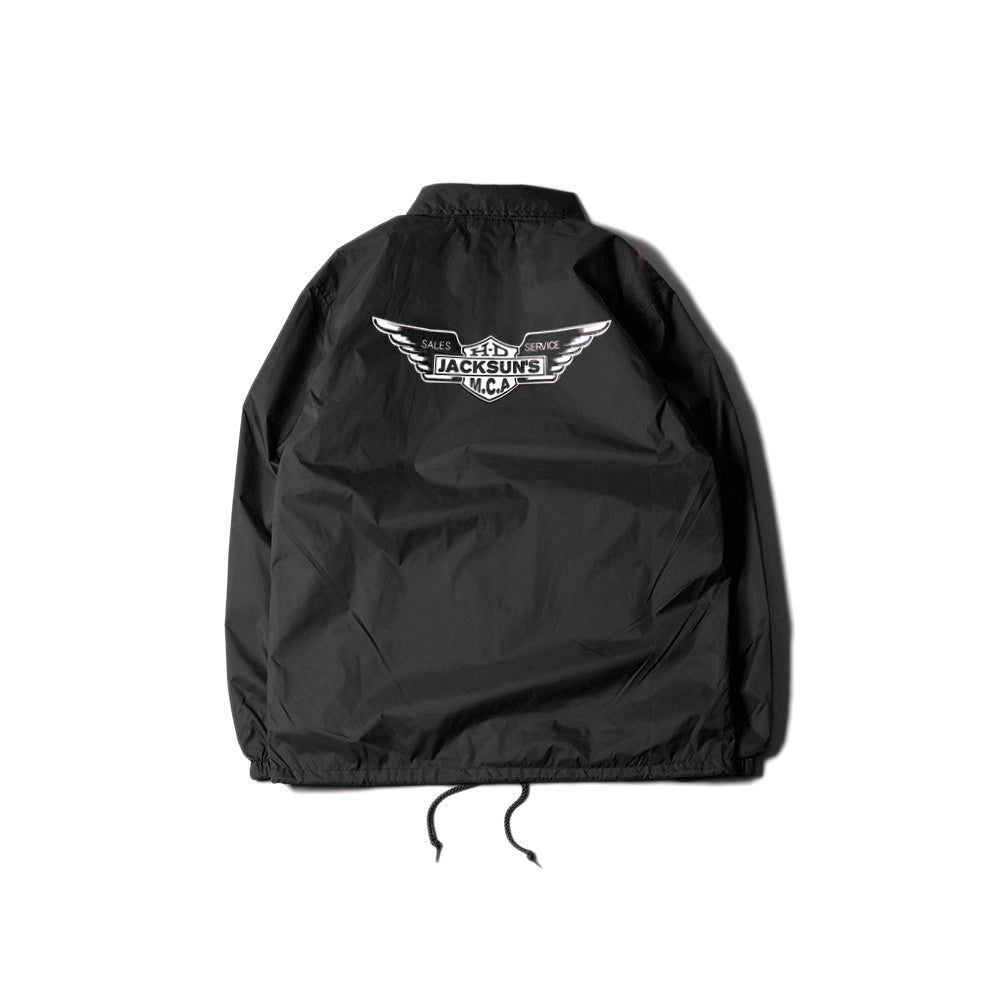 May club -【JACKSUN'S】WING COACH JACKET - BLACK