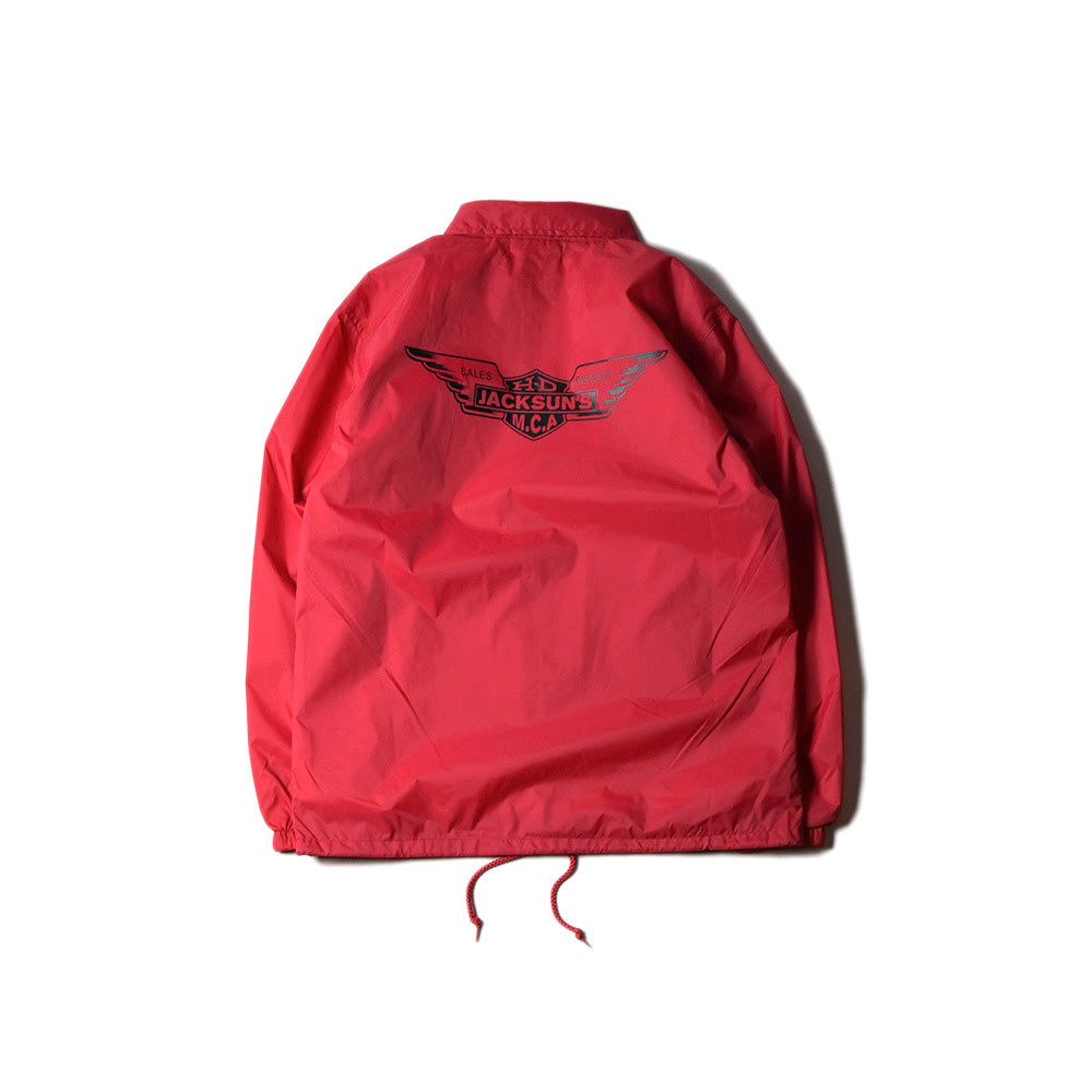 May club -【JACKSUN'S】WING COACH JACKET - RED
