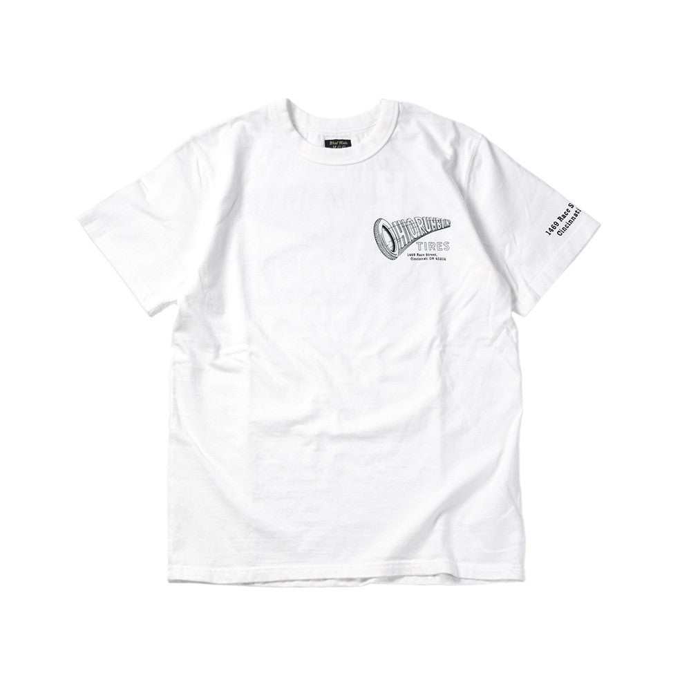 "May club -【WESTRIDE】""OHIO RUMBLING TIRES"" TEE - WHITE"