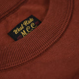 "May club -【WESTRIDE】""HARLEY'S CYCLE SHOP"" TEE - RED BROWN"