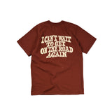 "May club -【WESTRIDE】""ON THE ROAD AGAIN"" TEE - RED BROWN"