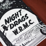 "May club -【WESTRIDE】""NIGHT DRAGS"" TEE - RED BROWN"