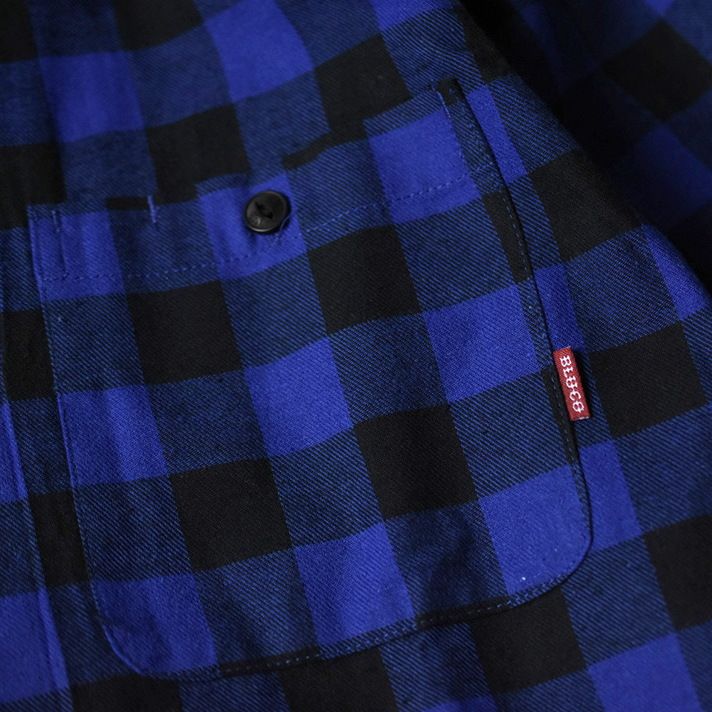 May club -【BLUCO】BUFFALO CHECK SHIRTS - BLUE