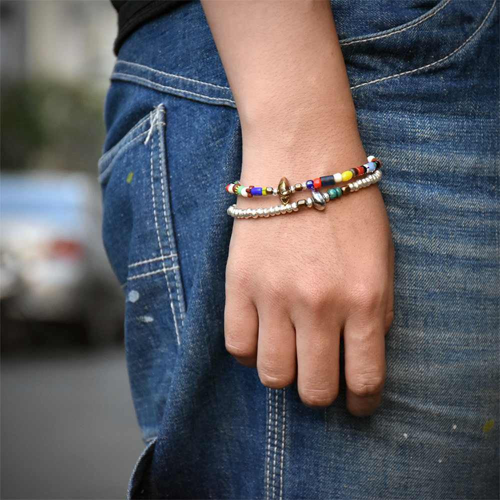 May club -【SunKu】Silver Beads Bracelet(M Beads)