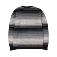 May club -【WESTRIDE】CLASSIC RIB MULTI BORDER L/S SWEATER - GRY/BGDY