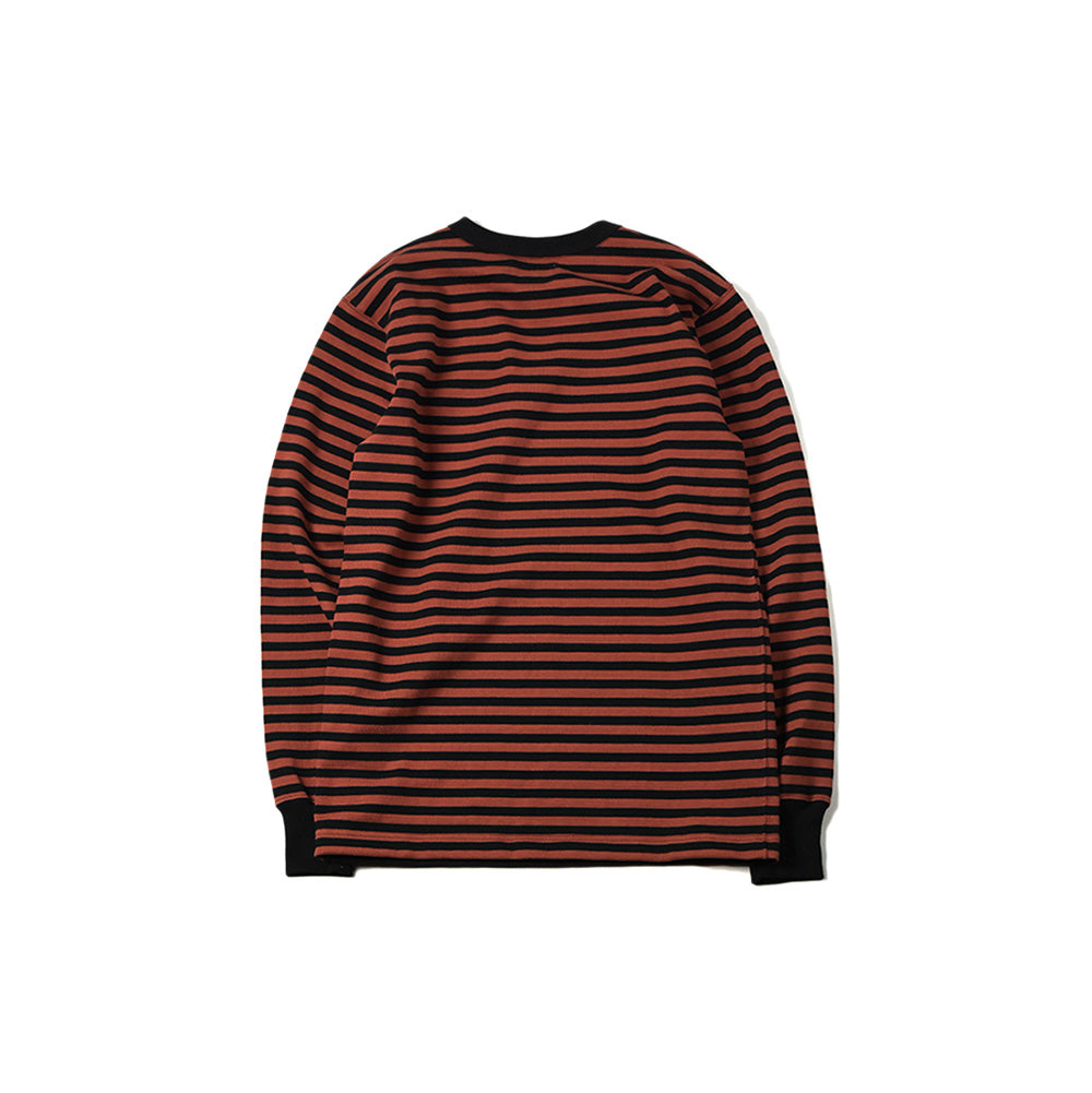 May club -【WESTRIDE】HEAVY BORDER LONG SLEEVES TEE ( 1cm 間隙) - BRK/BLK