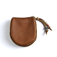 May club -【SunKu】Deer Leather Coin Purse - Brown