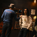 May club -【WESTRIDE】CLOUD FRONT-V CREW NECK - NAVY