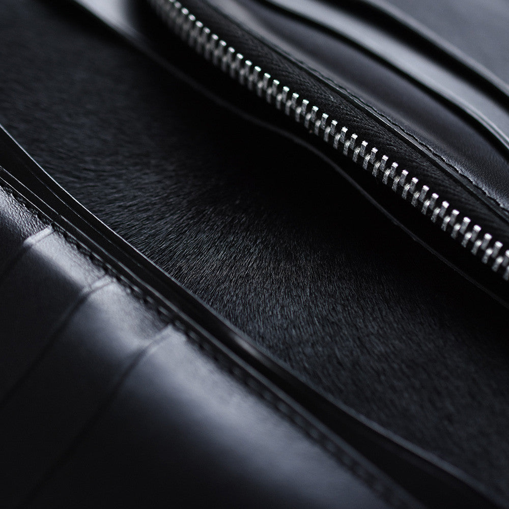 May club -【Addict Clothes】AD-W-01S UK BRIDLE LEATHER LONG WALLET - BLACK