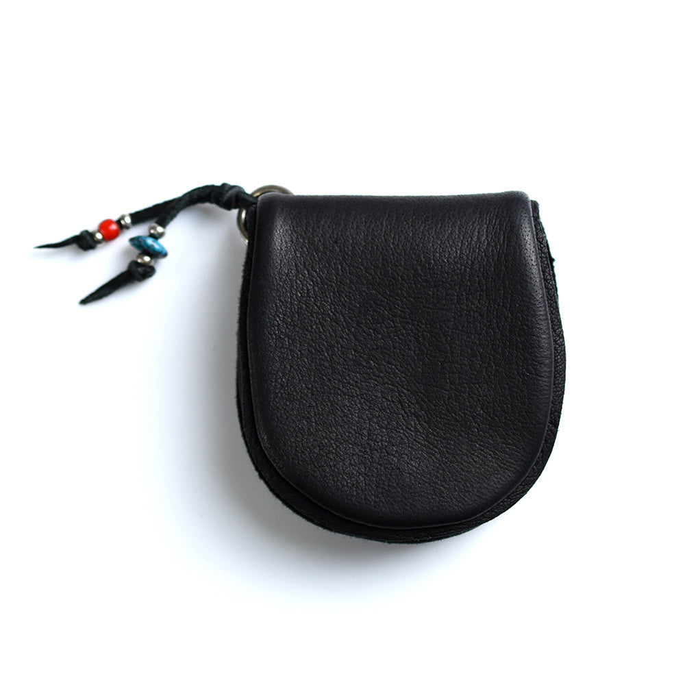 May club -【SunKu】Deer Leather Coin Purse - Black