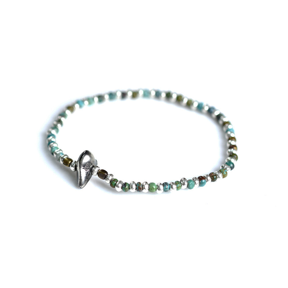 May club -【SunKu】Turquise & Silver Beads Bracelet