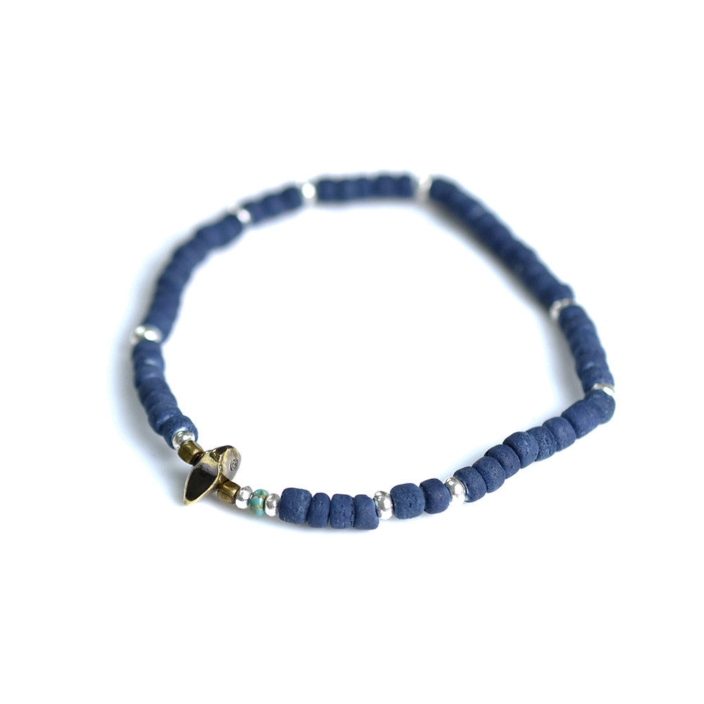 May club -【SunKu】Indigo Dye Beads Anklet