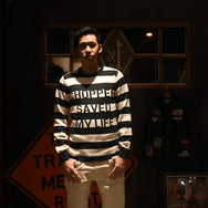 May club -【WESTRIDE】CLASSIC RIB LOGO SWEATER