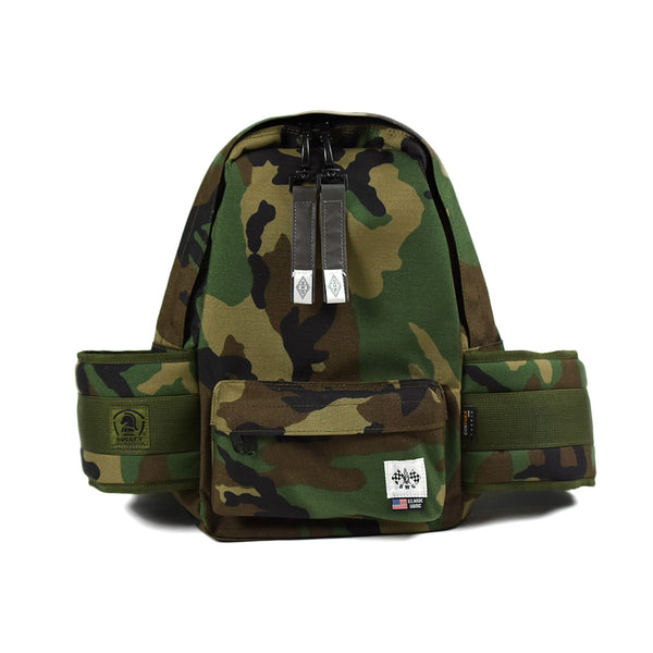 May club -【B.W.G JAPAN】B.W.G x BULLET TANDEM TOURING BAG - WOODLAND CAMO