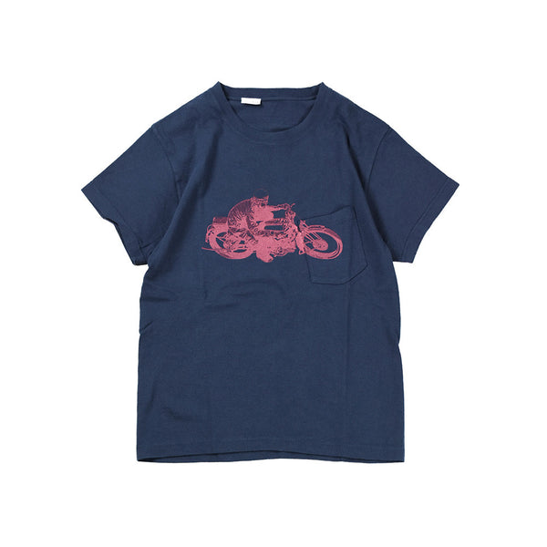 May club -【Addict Clothes】AD-CSP-03 RACER POCKET TEE - NAVY