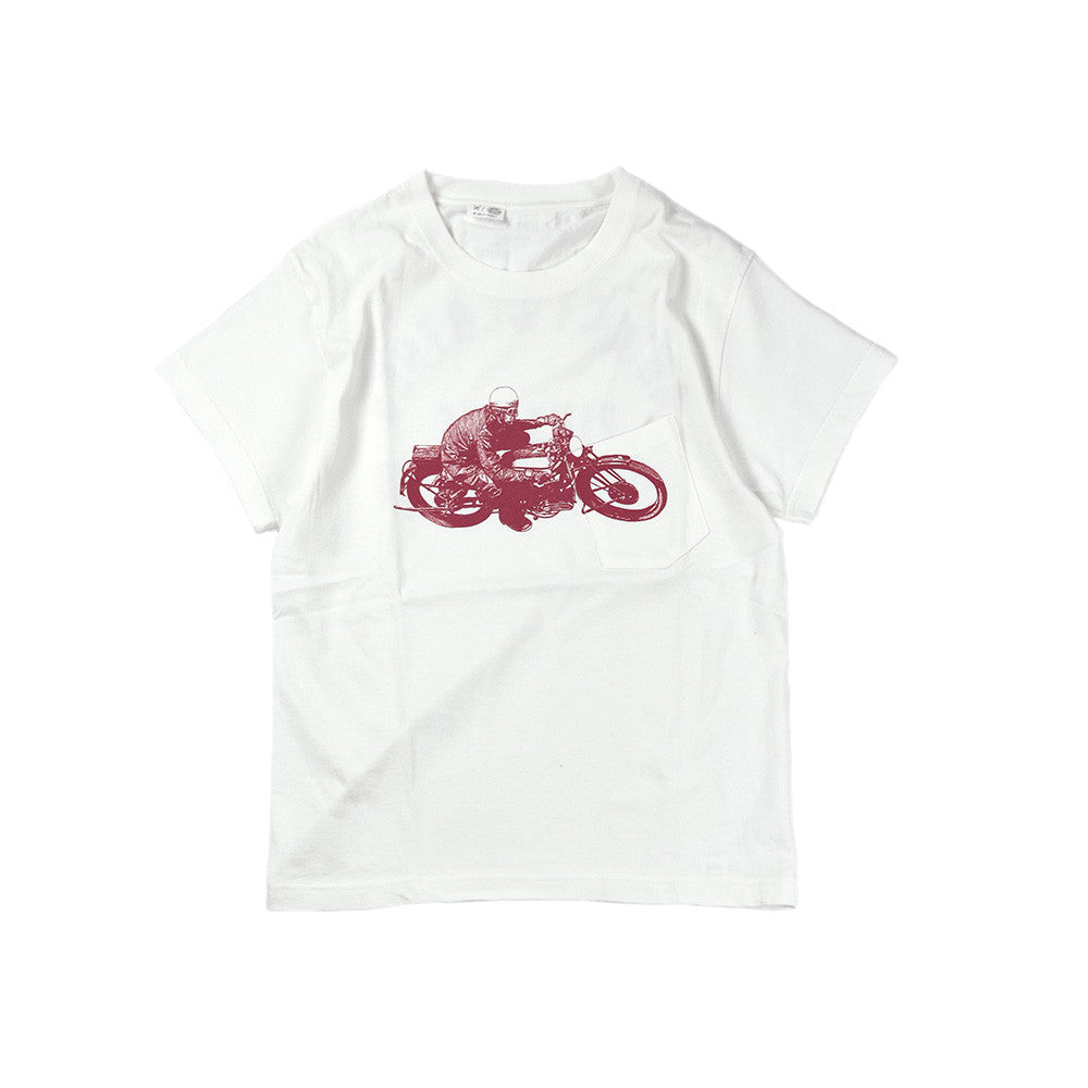 May club -【Addict Clothes】AD-CSP-03 RACER POCKET TEE - WHITE