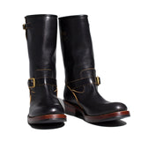 May club -【Addict Clothes】AB-01 STEERHIDE ENGINEER BOOTS - BLACK