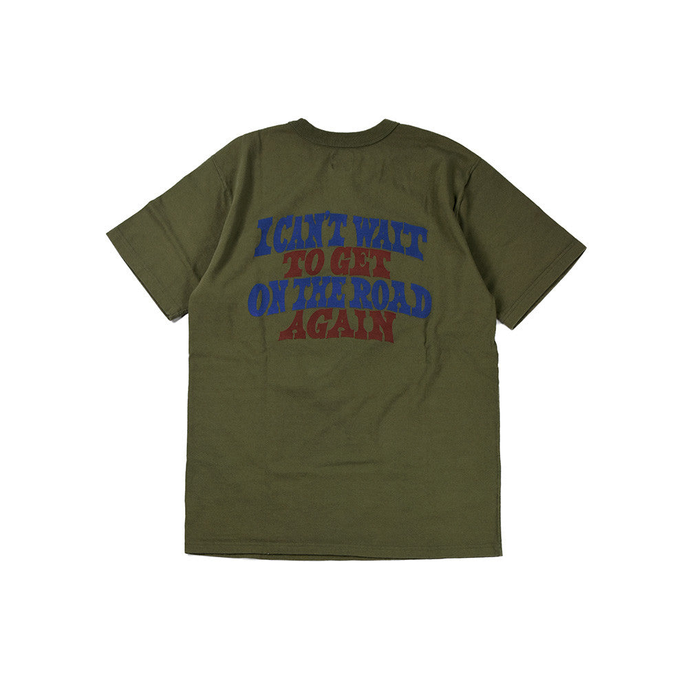 "May club -【WESTRIDE】""UNCLE SAM ON THE ROAD AGAIN"" TEE - DEEP OLIVE"