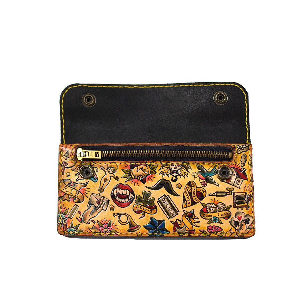 May club -【GDW Studio】Long Wallet - Traditional American Tattoo