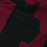 May club -【Trophy Clothing】WIDE BORDER TEE - BURGUNDY x BLACK