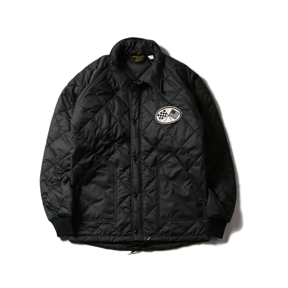 May club -【WESTRIDE】AMERICAN QUILTING JACKET - BLACK