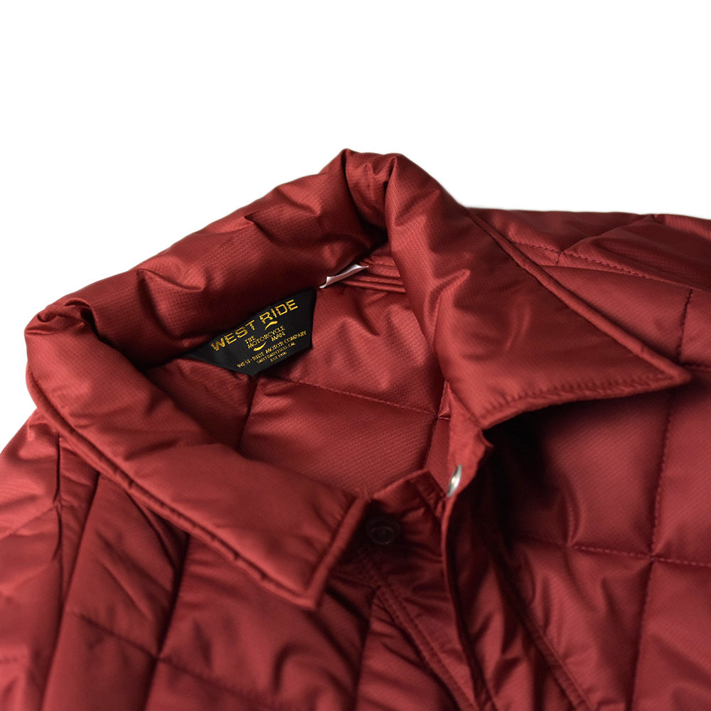 May club -【WESTRIDE】AMERICAN QUILTING JACKET - MAROON