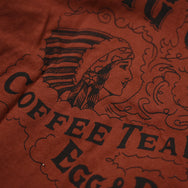 "May club -【WESTRIDE】""BIG CHIEF CAFE"" TEE - RED BROWN"