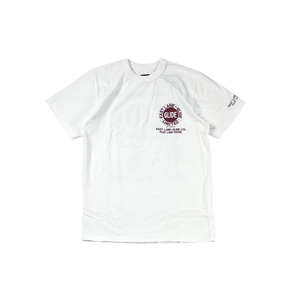 "May club -【WESTRIDE】""GLIDE MOTOR OIL"" TEE - WHITE"