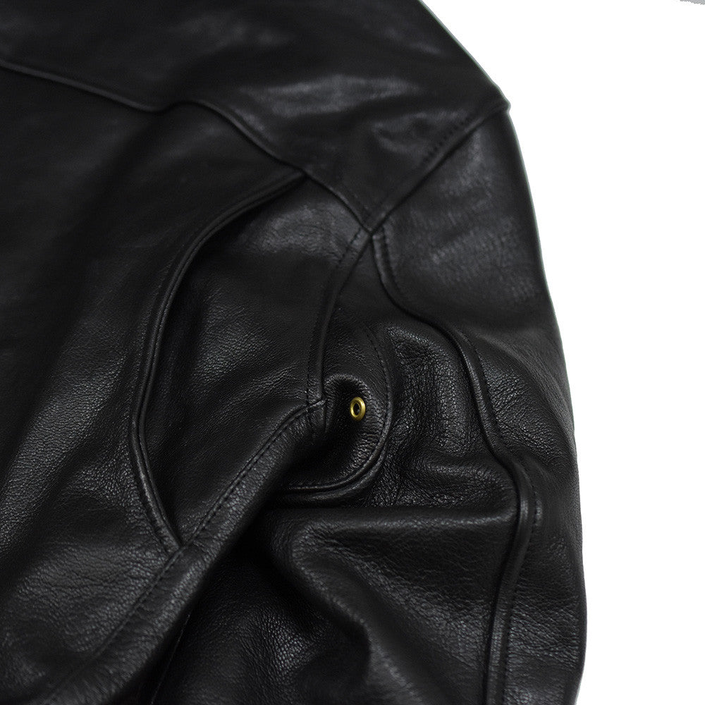 May club -【WESTRIDE】OAK CANYON LEATHER JACKET - BLACK