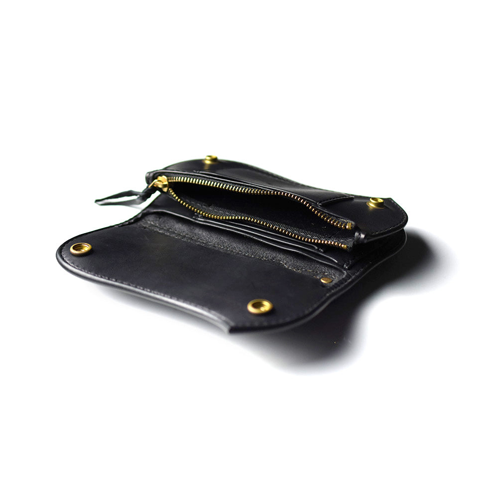 May club -【ATELIER CHERRY】13 LONG WALLET DIAMOND STITCH - SUEDE BLACK