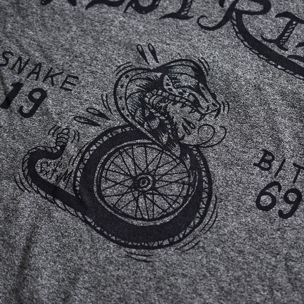 "May club -【WESTRIDE】""SNAKE BITE"" TEE - GREY"