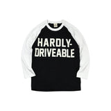 May club -【HARDLY-DRIVEABLE】Logo Long Sleeve T-Shirt (Straight-Beige)