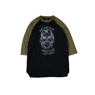 "May club -【WESTRIDE】""DON'T FEAR"" UNDER TEE  - OLIVE / BLACK"