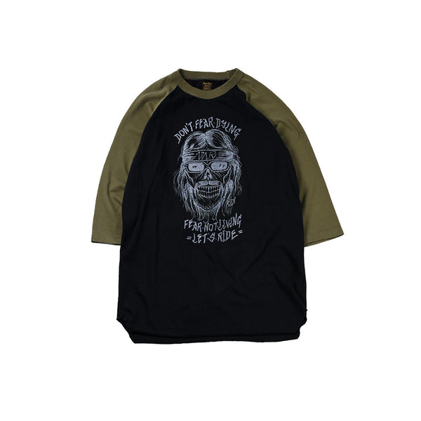 """DON'T FEAR"" UNDER TEE  - OLIVE / BLACK"