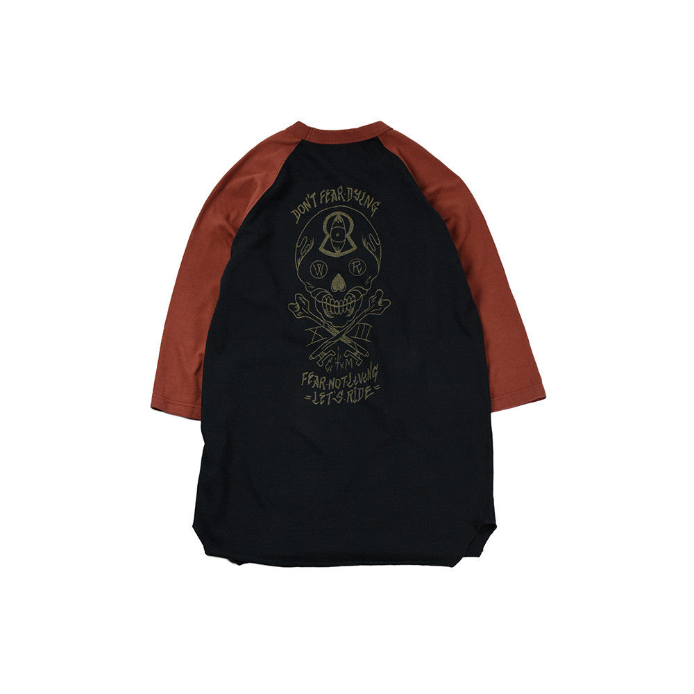 "May club -【WESTRIDE】""DON'T FEAR"" UNDER TEE  - RED / BLACK"