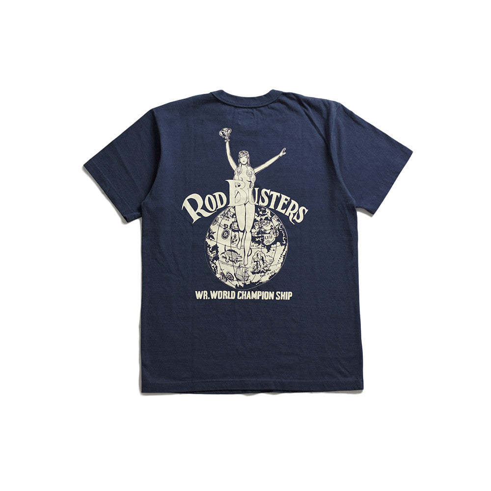 "May club -【WESTRIDE】""WORLD CHAMP"" TEE - NAVY"