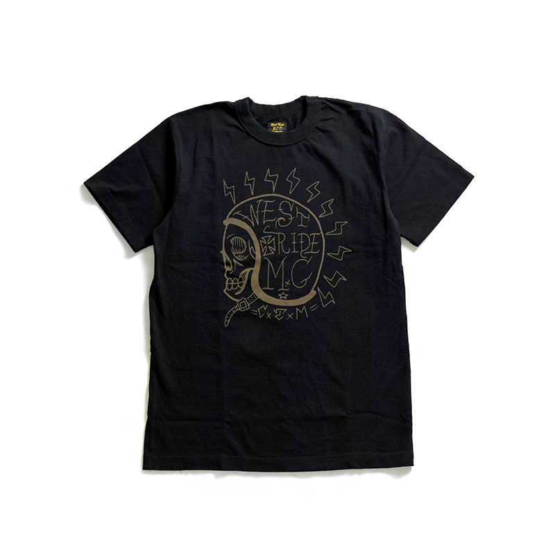 "May club -【WESTRIDE】""SNAKE BITE"" TEE - BLACK"