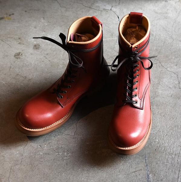 May club -【Addict Clothes】AD-S-02 STEERHIDE LACE-UP BOOTS - RED
