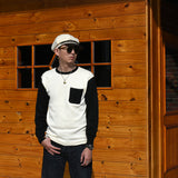 May club -【WESTRIDE】CLASSIC RIB L/S SWEATER - IVRY/BLK