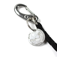 May club -【SunKu】DEER LEATHER KEY STRAP- BLACK
