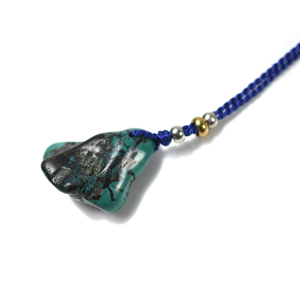 May club -【SunKu】TURQUOISE SILK ROPE NECKLACE - BLUE