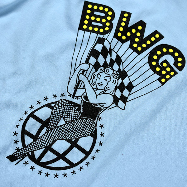 "May club -【B.W.G JAPAN】""PINUP GIRL"" TEE - LIGHT BLUE"