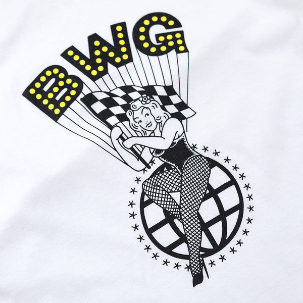 "May club -【B.W.G JAPAN】""PINUP GIRL"" TEE - WHITE"