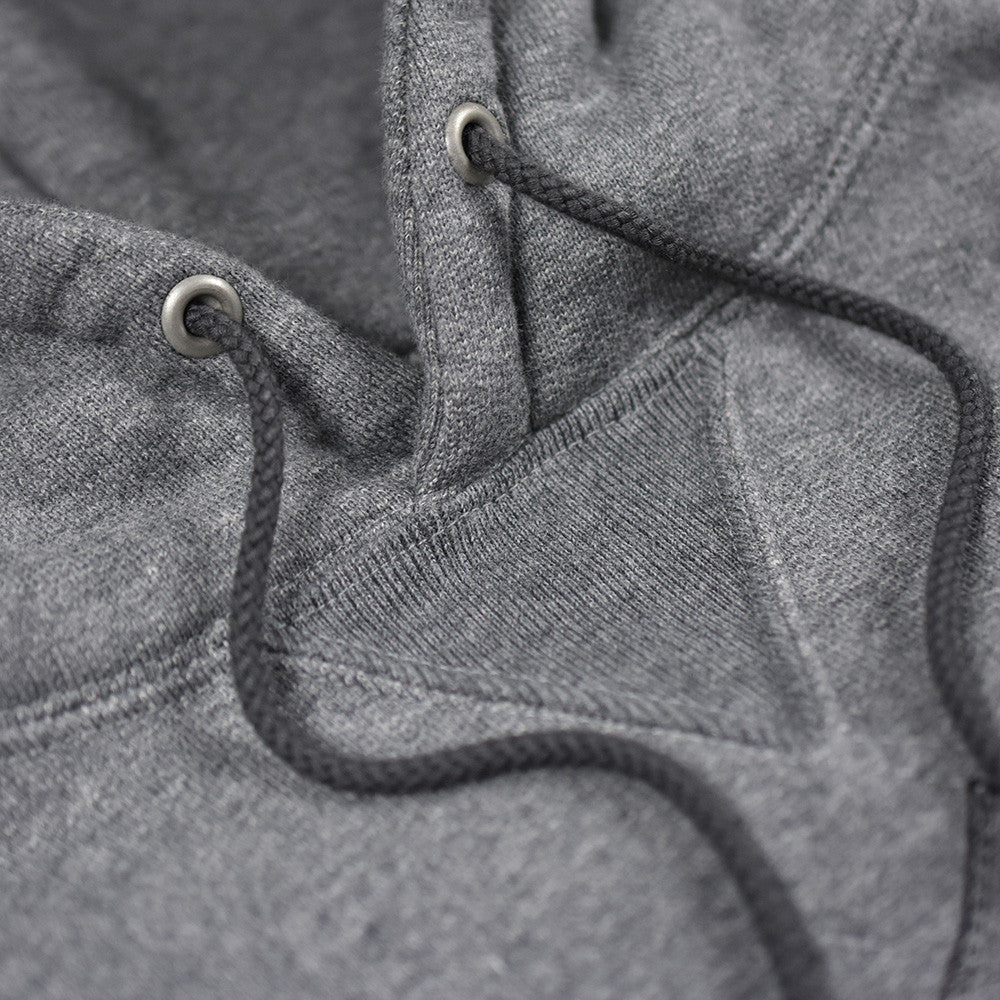 May club -【WESTRIDE】HEAVY WEIGHT FRONT V HOODIE - GRAY