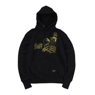 May club -【WESTRIDE】HEAVY WEIGHT FRONT V HOODIE - BLACK